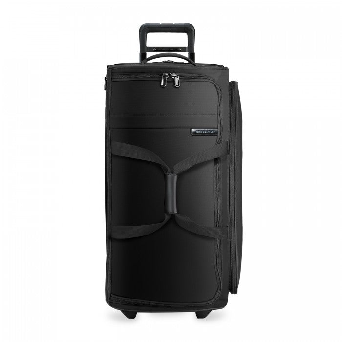 Briggs & Riley Baseline Large Upright Duffle in Black front view