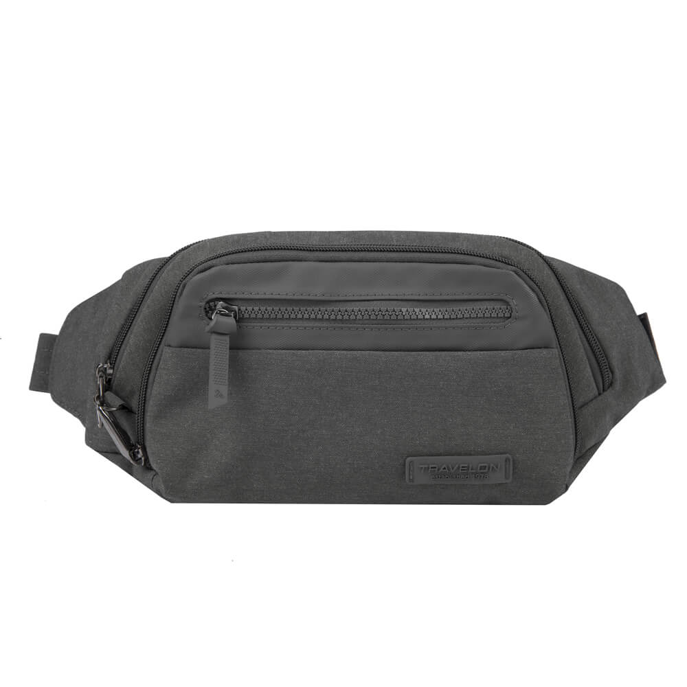 Travelon Anti-Theft Metro Waist Pack in colour Grey Heather - Forero's Bags and Luggage Vancouver Richmond