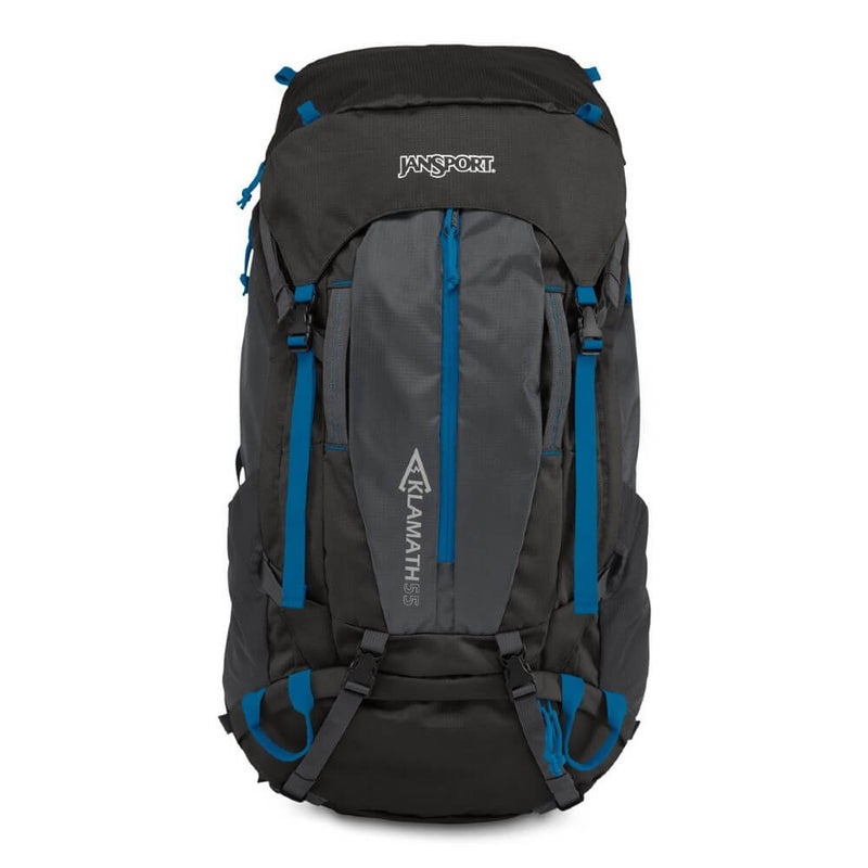 JanSport Klamath 55L Backpack in Forge Gray side view