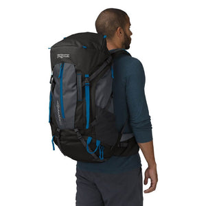 JanSport Klamath 55L Backpack in Forge Gray on model