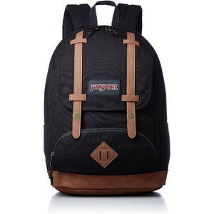 JanSport Baugman Backpack in Black Canvas front view