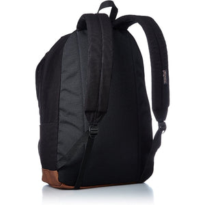 JanSport Baugman Backpack in Black Canvas back view
