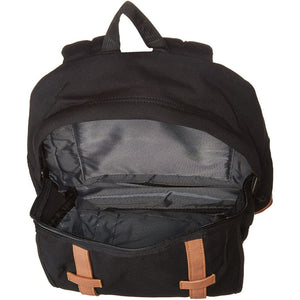 JanSport Baugman Backpack in Black Canvas inside view