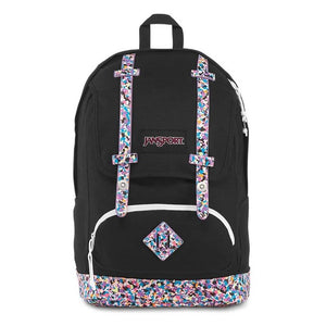 JanSport Baugman Backpack in Colourful Concrete front view