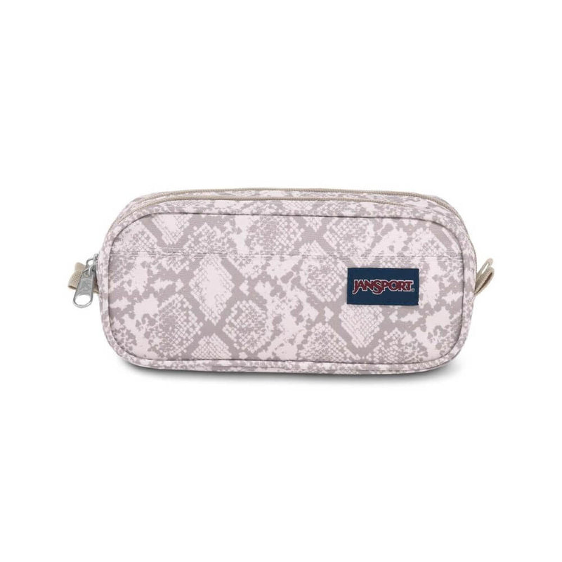 JanSport Large Accessory Pouch in Classic Python front view