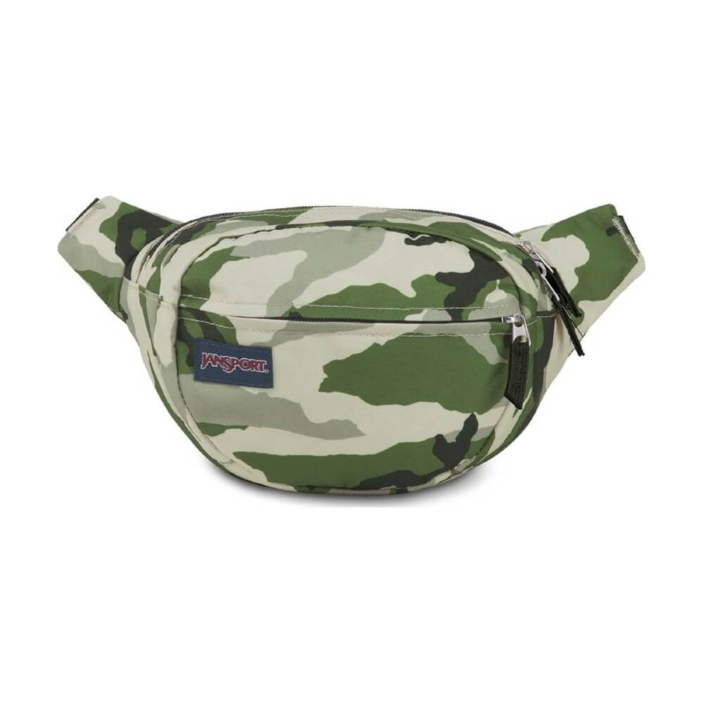 JanSport Fifth Ave Fanny Pack in Classic Camo front view