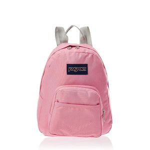 JanSport Half Pint Backpack in Strawberry Pink front view