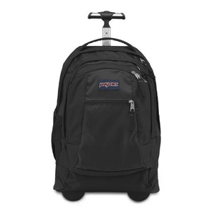JanSport Driver 8 Rolling Backpack in Black front view