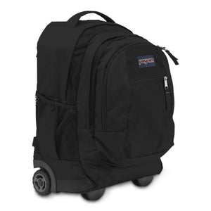 JanSport Driver 8 Rolling Backpack in Black side view
