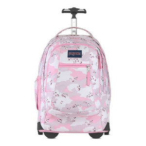 JanSport Driver 8 Rolling Backpack in Camo Crush front view