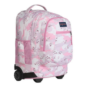 JanSport Driver 8 Rolling Backpack in Camo Crush side view