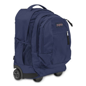 JanSport Driver 8 Rolling Backpack in Navy side view