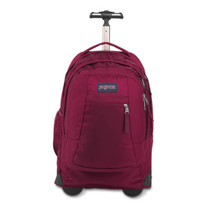 JanSport Driver 8 Rolling Backpack in Russet Red front view