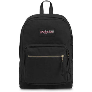JanSport Right Pack Expressions Backpack in Black Gold front view