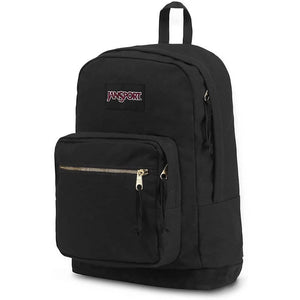 JanSport Right Pack Expressions Backpack in Black Gold side view