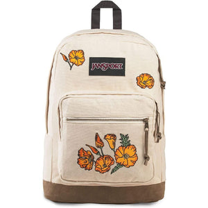 JanSport Right Pack Expressions Backpack in Embroidered Poppies front view