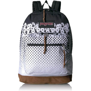 JanSport Right Pack Expressions Backpack in Floral Horizons Black front view