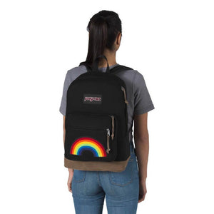 JanSport Right Pack Expressions Backpack in Rainbow Power on model