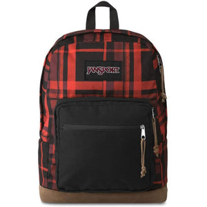 JanSport Right Pack Expressions Backpack in Red Diamond Plaid front view