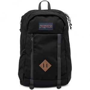 JanSport Foxhole Backpack in Black front view