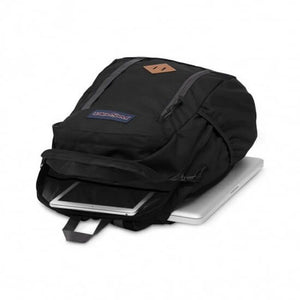JanSport Foxhole Backpack in Black open