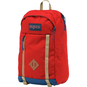 JanSport Foxhole Backpack in Red Tape side view