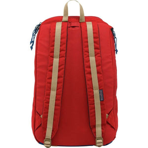 JanSport Foxhole Backpack in Red Tape back view