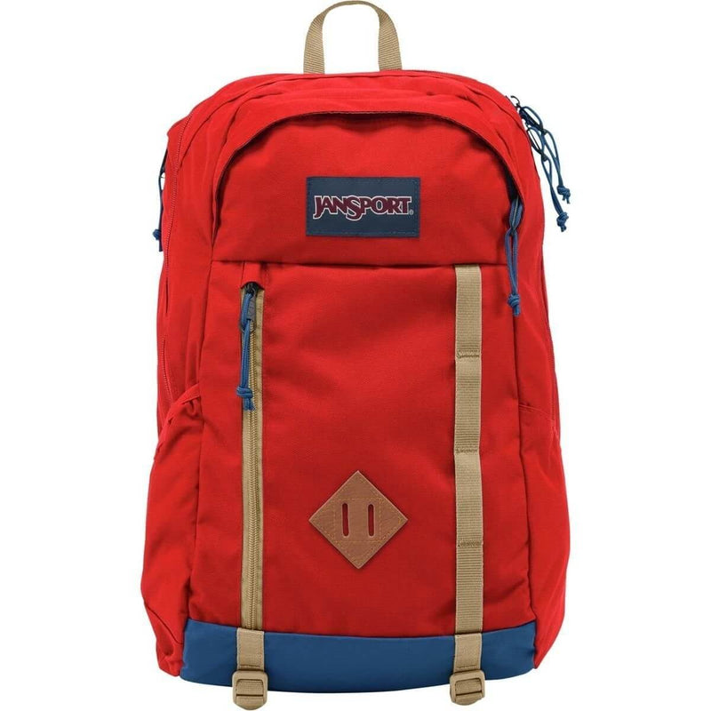 JanSport Foxhole Backpack in Red Tape front view
