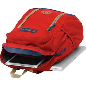 JanSport Foxhole Backpack in Red Tape inside