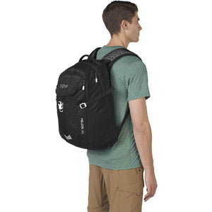 JanSport Helios 30L Backpack in Black on model