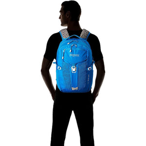 JanSport Helios 30L Backpack in Stellar Blue on model
