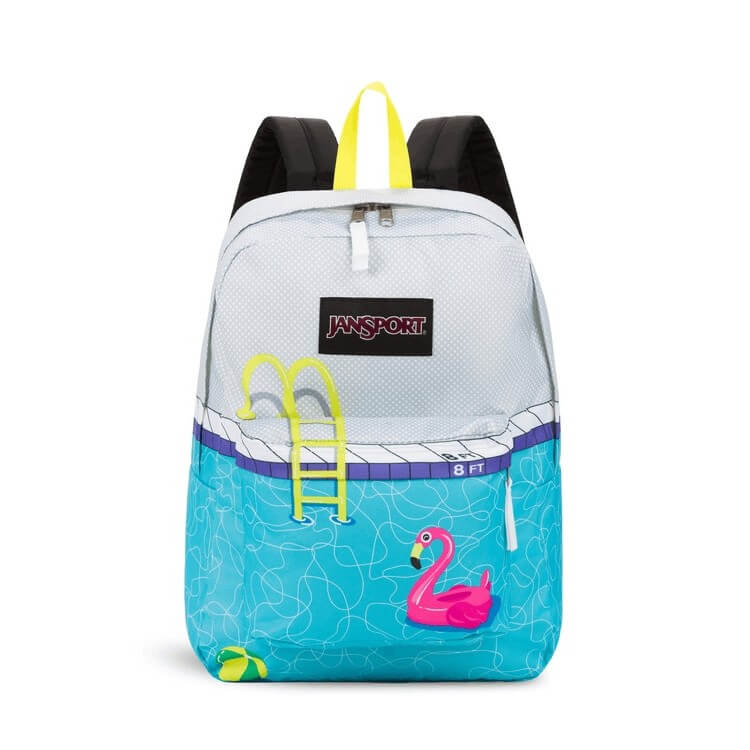 JanSport High Stakes Backpack in Pool Zone front view