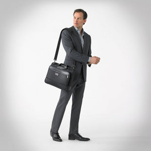Briggs & Riley @work Medium Slim Brief in Black on model