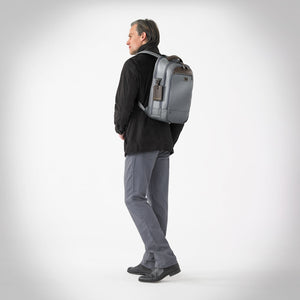 Briggs & Riley @work Medium Backpack in Grey on model