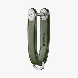 Orbitkey Cactus Leather Key Organizer on Cactus Green side view
