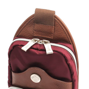 Orobianco Giacomix Sling Bag in colour Wine - Forero's Bags and Luggage Vancouver Richmond