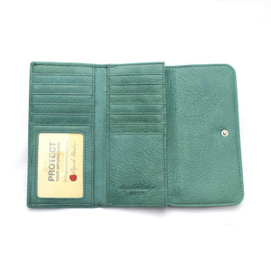 Osgoode Marley Card Case Leather Wallet in Teal - Forero's Vancouver Richmond