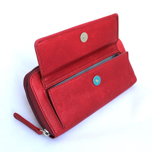 Osgoode Marley Zip Around Women's Leather Wallet in Garnet - Forero's Vancouver Richmond