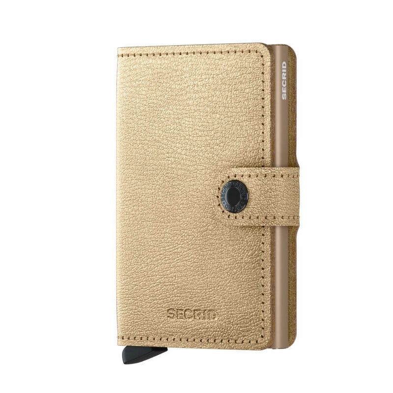 Secrid Miniwallet Antique in Gold front view