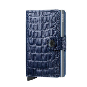 Secrid Miniwallet Nile in Blue front