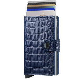 Secrid Miniwallet Nile in Blue cards up