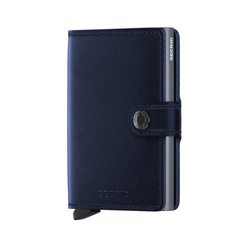 Secrid Miniwallet Polished in Navy front view