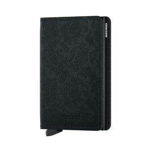 Secrid Slimwallet Paisley in Black front view