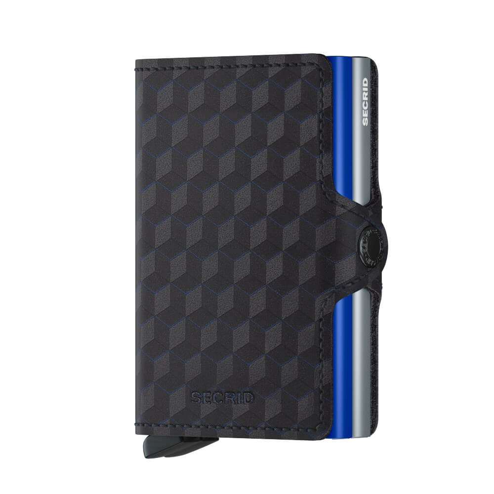 Secrid Twinwallet Optical in Blue Titanium front