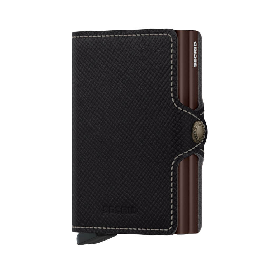 Secrid Twinwallet Saffiano in Brown front
