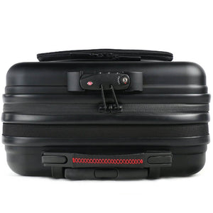 TecknoMonster Akille Pocket Aluminum Carry-On in Black top view