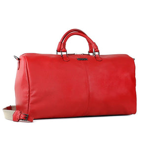 TecknoMonster Bolina Leather Duffle in red front view