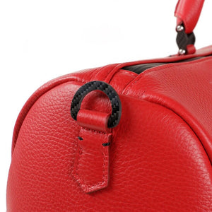 TecknoMonster Bolina Leather Duffle in red carbon accent