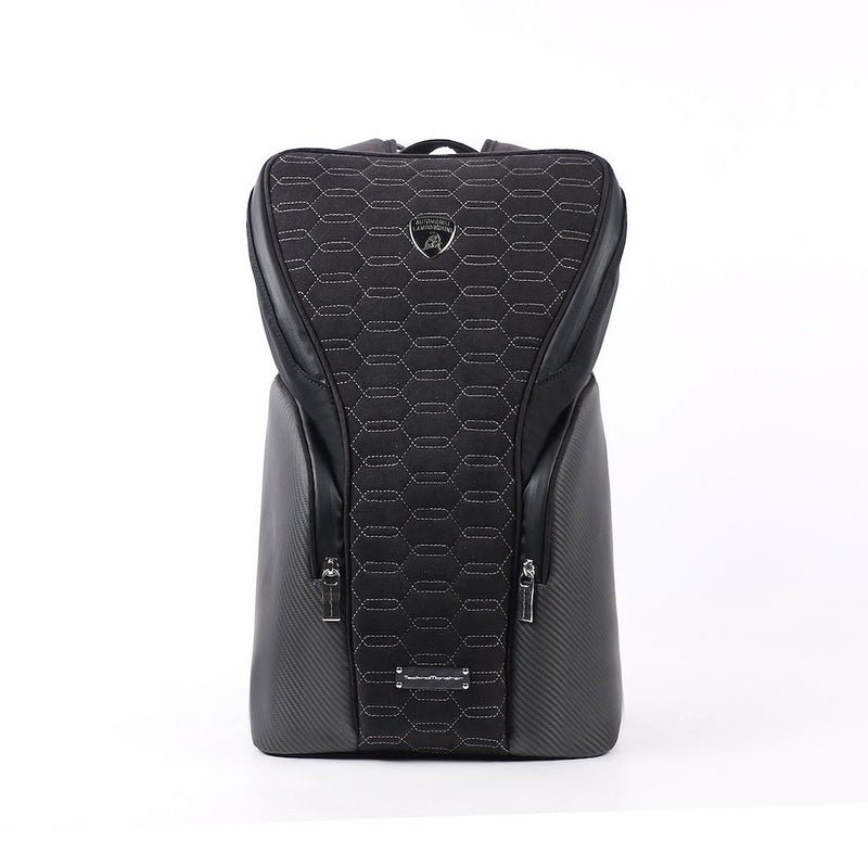 TecknoMonster Lambroghini Zangolo Backpack in Carbon Fiber front view