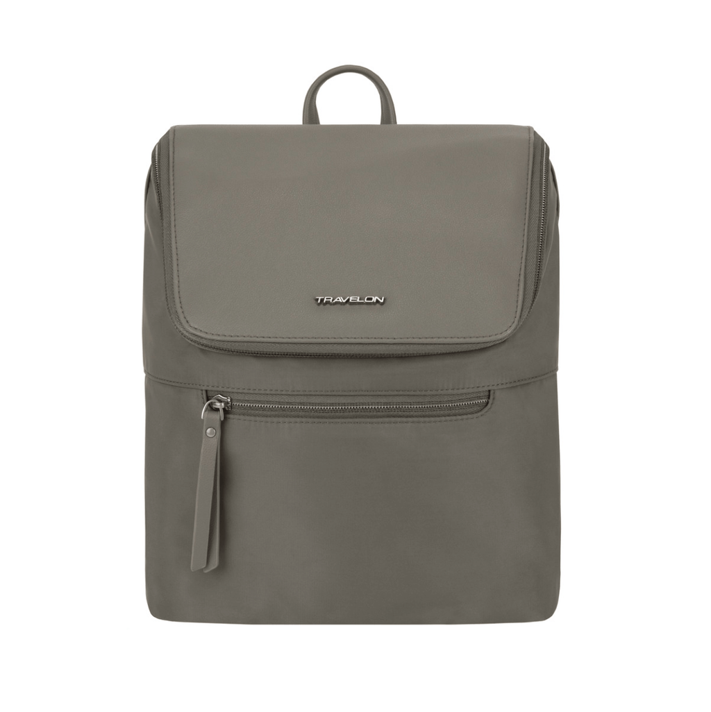 Travelon Anti-Theft Addison Women's Backpack in colour Grey - Forero's Bags and Luggage Vancouver Richmond